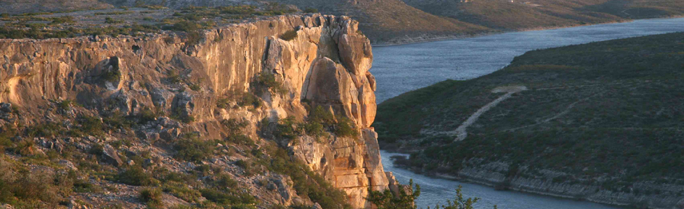 View of Cliff Overlooking Lake Amistad